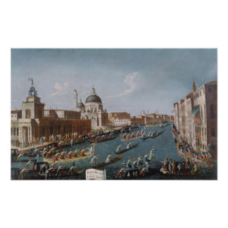 The Women's Regatta on the Grand Canal, Venice Poster