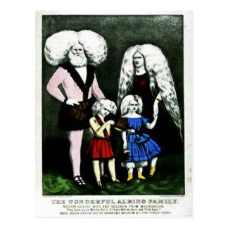 The Wonderful Albino Family Postcard