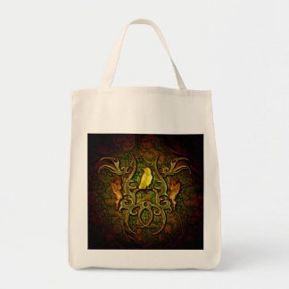 The wonderful crow grocery tote bag