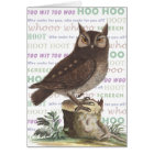 The Wonderful Sounds Owls Make - Vintage Image Card