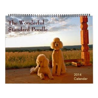 The Wonderful Standard Poodle Wall Calendars