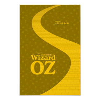 The Wonderful Wizard of OZ Literary Poster