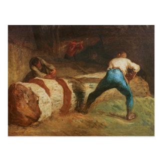The Wood Sawyers, 1848 Postcard