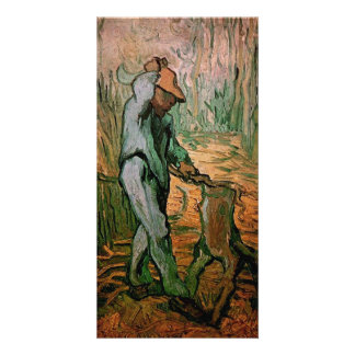 The Woodcutter after Millet by Vincent van Gogh Customised Photo Card