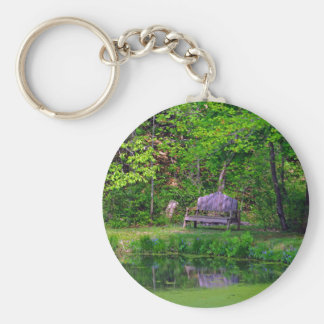 The Wooden Bench Basic Round Button Key Ring