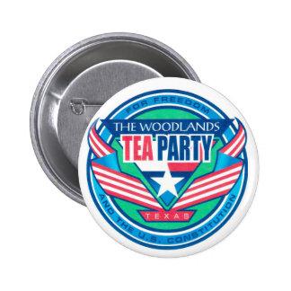 The Woodlands Tea Party Logo Button