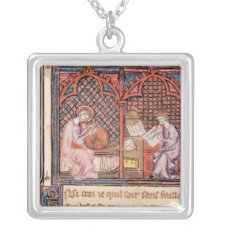 The Word, Creator of the World and The Author Silver Plated Necklace