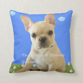 The Word Is Beauty Queen!!!! Cushion