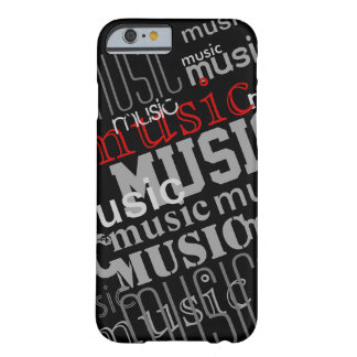the word-music patterned barely there iPhone 6 case