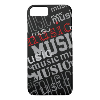 the word-music patterned iPhone 7 case