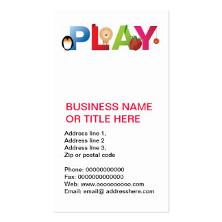the word play business cards