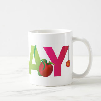 the word play coffee mug