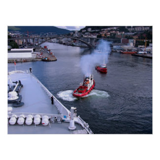 The Working Tugs of Bergen Print