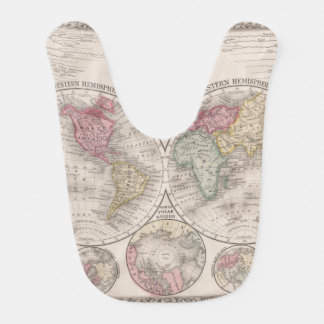 The world 1860 - Eastern & Western hemispheres Bib