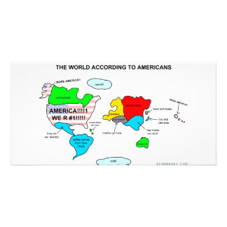 The World According to Americans Photo Cards