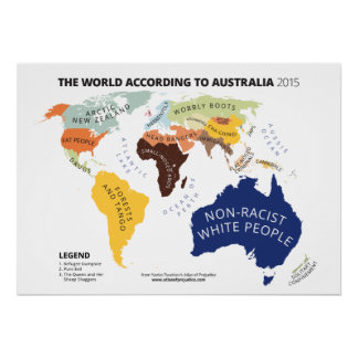 The World According to Australia Poster