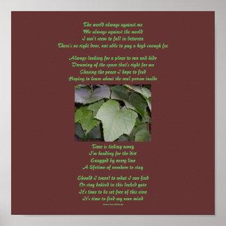 The world always against me...Poem/Lyrics Poster