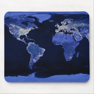 The World at Night - Map, Space Mouse Pads