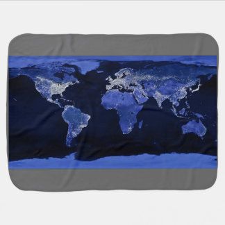 The World at Night - Map, Space Pram blankets
