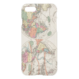 The world Atlas map with currents and trade winds iPhone 7 Case