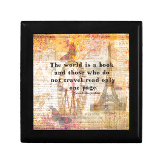 The world is a book and those who do not travel gift box