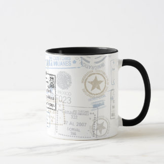 """The World is a Book"" Vintage Travel Mug"