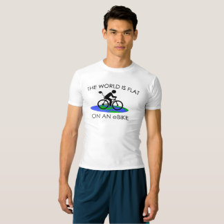 """""""The world is flat"""" active tops for men"""