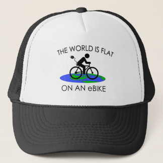 """""""The world is flat"""" cycling caps"""