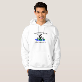 """The world is flat"" hoodies for men"