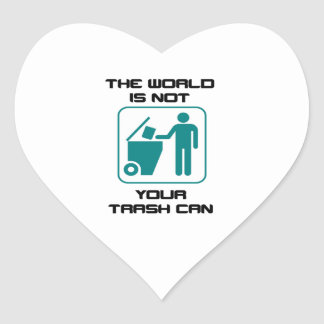 The World Is Not Your Trash Can Icon Heart Sticker