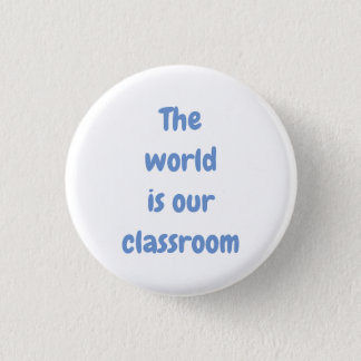 The world is our classroom pin