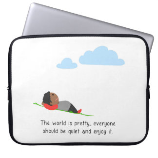 The world is pretty laptop sleeve