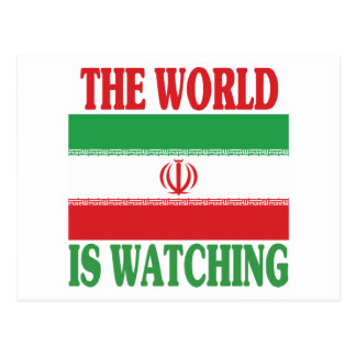 The World Is Watching Iran Post Card