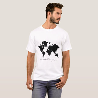 the world is yours map t-shirt