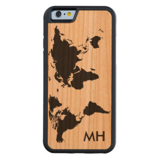 the world map personalized cherry iPhone 6 bumper case