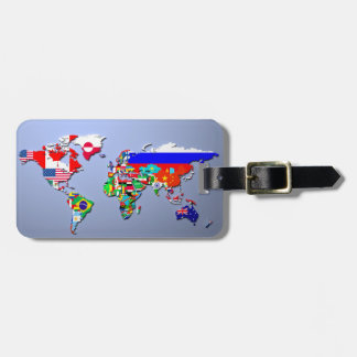 The World Map With Their Flags Luggage Tag