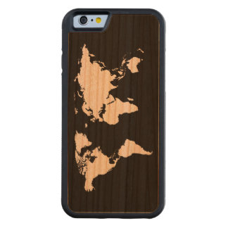 the world - maps carved® cherry iPhone 6 bumper