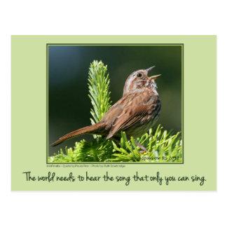 The world needs...Inspirational postcard