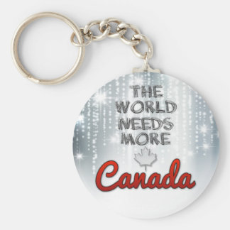 The world needs more Canada Key Ring