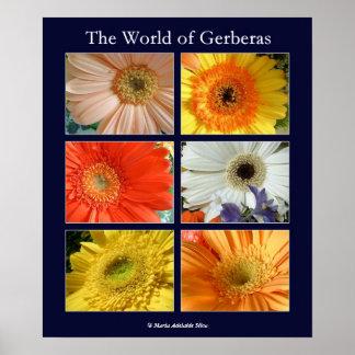 The world of gerberas print