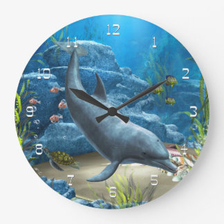 The World Of The Dolphin Wall Clock