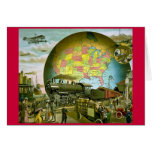 The World of Transportation 1910 Greeting Cards