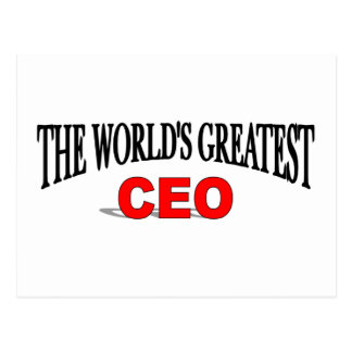 The World s Greatest CEO Post Card