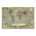 The World - Stereotypes Map Poster