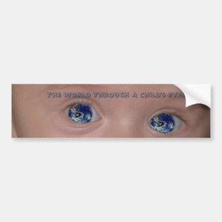 The World Through A Child's Eyes Car Bumper Sticker