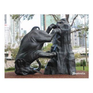 """The World Turns"" Sculpture, Brisbane, Australia. Postcard"