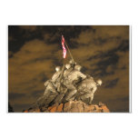 The World War II Iwo Jima Memorial Arlington VA 9 Cm X 13 Cm Invitation Card
