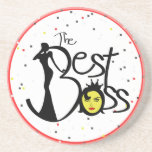 The World's Best Boss Beverage Coasters
