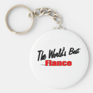 The World's Best Fiance Basic Round Button Key Ring
