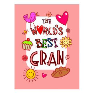 The World's Best Gran Postcard